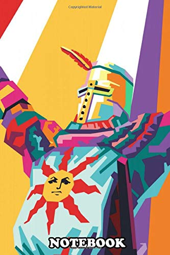 """Notebook: Solaire In Pop Art Style , Journal for Writing, College Ruled Size 6"""" x 9"""", 110 Pages"""