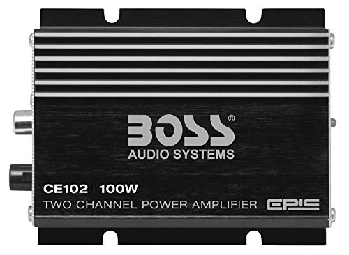 BOSS Audio Systems CE102 2 Channel Car Amplifier - 100 Watts, Full Range, Class A/B, IC (Integrated Circuit)