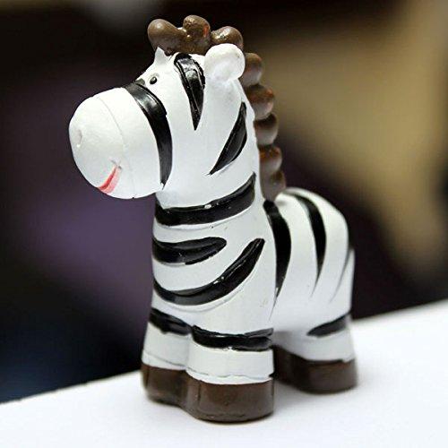 Bluelover Mini Cute Zebra Micro Jardin Paysager Décorations Décoration Bricolage-Noir Blanc
