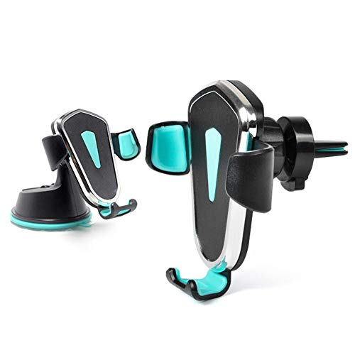Summeishop Car Phone Holder Windshield Instrument Panel Air Outlet Two-in-one Universal Suction Cup Navigation Mobile Phone Bracket