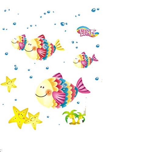 Wall Sticker-Mignon Fathead Fish Starfish Wall Sticker, Wall Sticker For Kindergarten Children (50Cm * 70Cm)