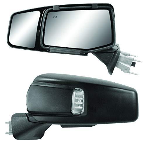 Snap & Zap Custom Fit Towing Mirror Pair for Chevy Silverado 1500, GMC Sierra 1500