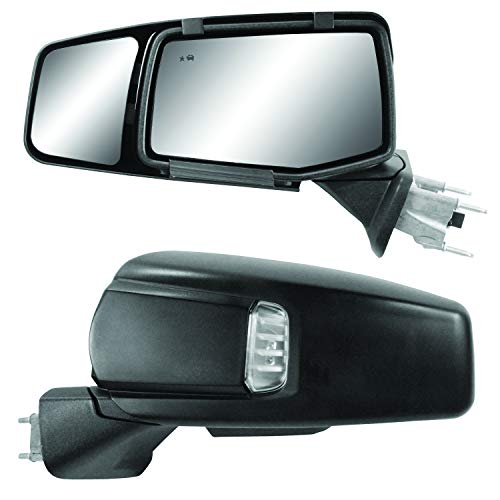 Snap & Zap Custom Fit Towing Mirror Pair for Chevy Silverado 1500, GMC Sierra 1500