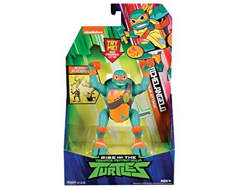 Teenage Mutant Ninja Turtles TUAB2300 The Rise Deluxe - Figuras de acción – Michelangelo Popup Attack