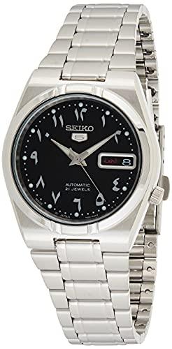 Seiko 5 Automatic Black Dial Stainless Steel Men's...