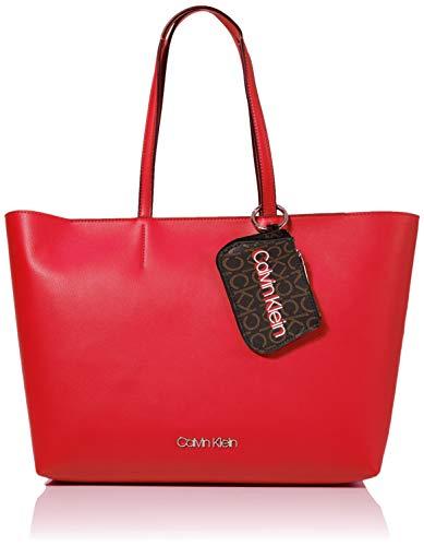 Calvin Klein Damen Ck Must F19 Med Shopper Umhängetasche, Rot (Process Red), 1x1x1 cm