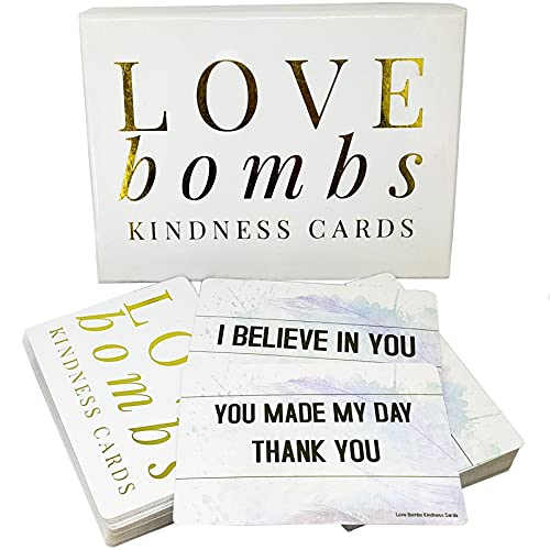 Love Bombs Kindness Cards - 111 Sincere Appreciation, Compliment & Encouragement Cards. Gratitude for Employees, Couples, Families & Friends