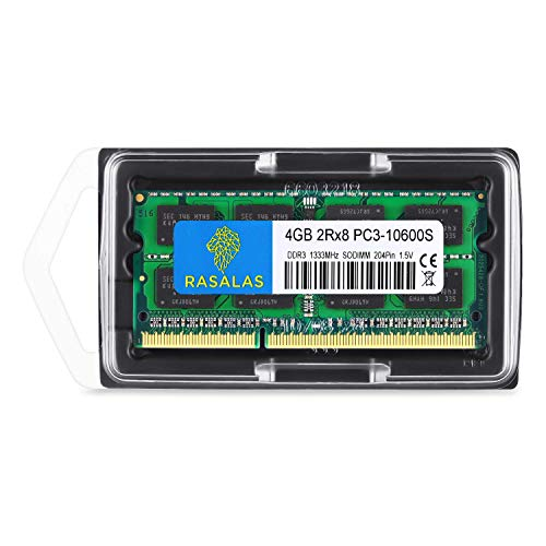 Rasalas 8GB Kit (2X4GB) PC3-10600 DDR3 1333 mhz Sodimm RAM Upgrade for AMD Intel Laptop, MacBook Pro 13/15/17 inch Early/Late 2011,iMac 21.5-inch Mid/Late 2011,27-inch Mid 2011,Mac Mini 5,1