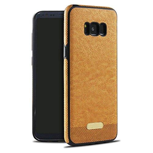 JEPER Compatibel met Samsung Galaxy S8 lederen hoes, 360 graden rondombescherming, premium PU lederen tas, beschermhoes, backcover, shell voor originele Samsung Galaxy S8 5.8