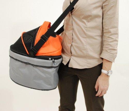 PetEGO QPIL OG Pod ILove Fahrradtasche für ans Lenkrad, orange/grau