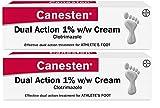 Canesten Athletes Foot Cream, Dual Action, Clotrimazole, Antifungal Cream, Antibacterial Cream, For the Treatment of Athlete's Foot 30g - 2 Pack