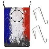 ZCHW Bandera de Francia Pray Paris The Arts Puerta Colgante Cesto de lavandería Bolsa Bolsa de Ropa Sucia Recipiente de Almacenamiento Canasta de lavandería Bolsa de lavandería