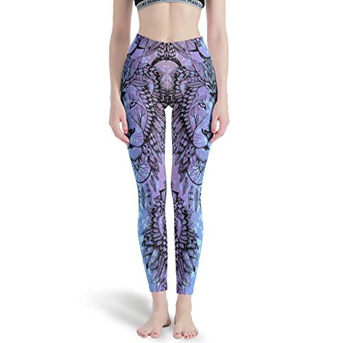 Bekende - Mode Womens Leggings, Aangepaste Panty Tijger Luipaard Leeuw Dier Dreamcatcher Patronen Gedrukt Aangepaste Workout Broek Lands End Capris Broek voor Vrouwen