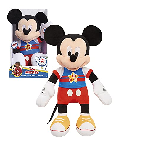 Topolino, peluche musicale con funzione sonora e luminosa, 30 cm, giocattolo per bambini dai 12 mesi, MCC13000, Giochi Preziosi