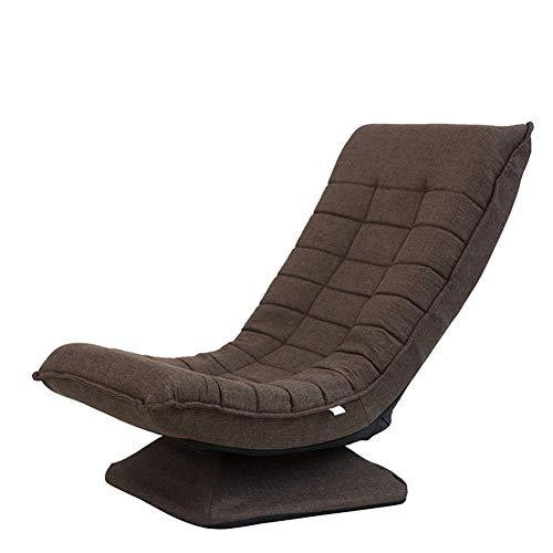 YLCJ Swinging Wohnzimmer drehbarer Sitzstuhl, Gaming Chair Floor Tatami Zaisu Floor Chair-D