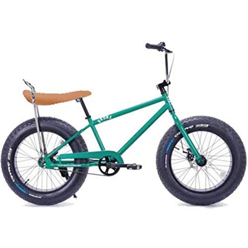 20BRONX-CUTOM GREENGLITTER ブロンクス ファットバイク レインボー ビーチクルーザー 20インチ 極太タイヤ 自転車 通勤 通学 メンズ レディース