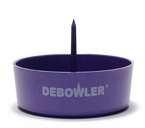 Debowler (Purple) Acrylic Ashtray with Built in Poker