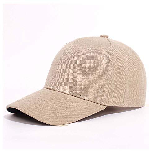 Faro 9006 Hombres y mujeres Sombrero para el sol Gorra de trabajo de béisbol Sombrero masculino Sombrero femenino Equipo de gorra de publicidad Bombilla (Color : Beige)