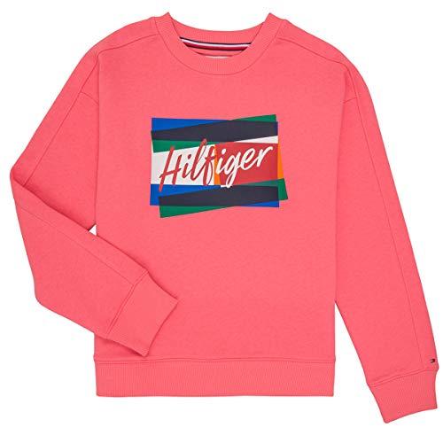 Tommy Hilfiger Kg0kg05220-tik Sweatshirts Und Fleecejacken Madchen Rose - 8 Jahre - Sweatshirts Sweater