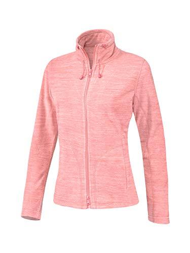 Joy Sportswear Pennie Langarm-Freizeitjacke für Damen aus kuscheligem, weichem Micro-Fleece, Zipjacke mit praktischem Zwei-Wege-Reißverschluss 48, Rosewood Melange