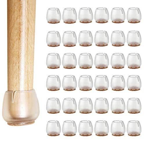 TheStriven 36 Stuck Silikon Stuhl Kappen Füße Pads Silikon Stuhl Bein Caps Füße Pads Stuhl Füße Bodenschoner Stuhlkappen zu schützen Holz Fliesenböden und Möbel für 12~17mm Runde Beine (12-17mm)