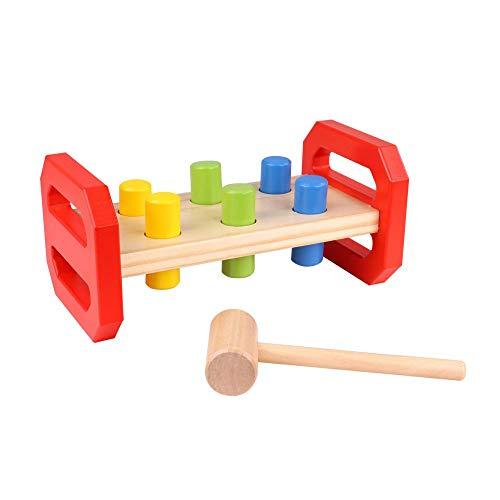 Tooky Toy Banc de marteau pour enfant - Jouet à marteler - Jouet pour enfant - Jouet en bois - Bricologa enfant - Jeu d'imitation