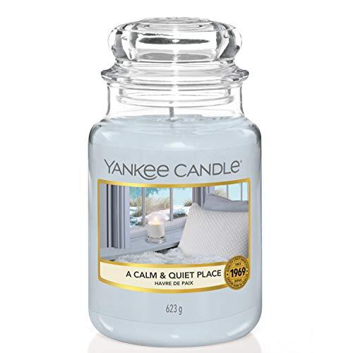 Yankee Candle A Calm & Quiet Place- Candela Profumata Grande Vaso, Fino a 150 ore di combustione