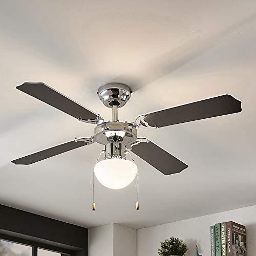 Lindby Deckenventilator mit Beleuchtung und Zugschalter leise | 2-in-1: Ventilator & Lampe | Durchmesser: 106,6 cm | 3 Geschwindigkeitsstufen | Sommer- & Winterbetrieb