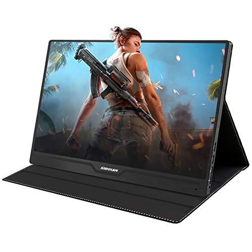 YAOJP 17.3 Pulgada Pantalla Portatill, Monitor Gaming HDR 1920 x 1080 178 ° Pantalla IPS con Tipo USB C/HDMI, Altavoces Integrados de batería incorporada para PC para Laptop PC PS4 Xbox