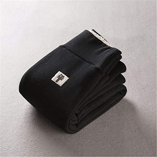 Leggings con forro polar de invierno cálido para mujer - Medias gruesas de terciopelo Pantalones térmicos (XXL, Gato Negro)
