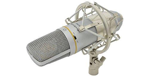 DIG13-SCM2-studio-condensatormicrofoon, niere (cardioid), 34 mm, verguld single membraan in metalen behuizing, met gecoat stalen rooster, 48 V, fantoomvoeding, dieppass-rol-off-filter