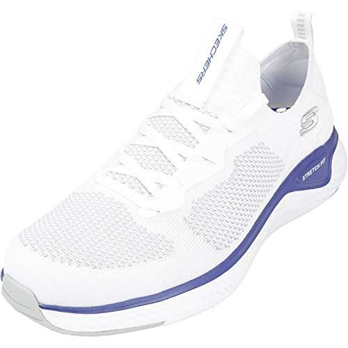 Skechers Herren SOLAR FUSE Slip On Sneaker, Weiß, 45 EU