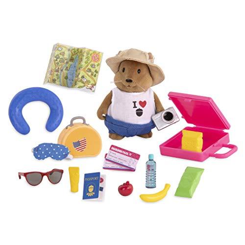 Li'l Woodzeez 19-teilig Eichhörnchen auf Reise Figur und Zubehör Set – weiche Tierfigur, Koffer, Reisepass und mehr – Spielzeug für Kinder ab 3 Jahren