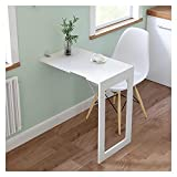 GHHZZQ Mesa de Comedor Invisible Mesa Plegable de Pared Cocina Aprendiendo Actividad Mesa Plegable Pequeña Simple Y Moderno Ahorro de Espacio (Color : White, Size : 74 * 45x75cm)
