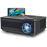 Fangor 1080p HD Bluetooth Projector with Wireless Mirror