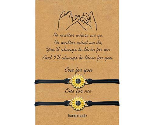 Pulsera de amistad gris Camle para los mejores amigos, pareja, familia, ajustable, impermeable, hecha a mano, pulsera de relación, para 2