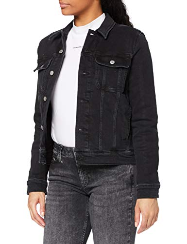 Calvin Klein Jeans Regular 90'S Jacket Chaqueta de jean, Denim Negro, XL para Mujer