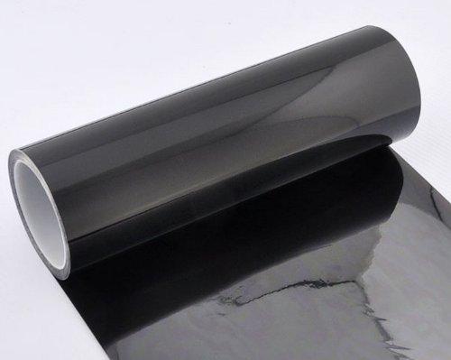 Film teinté auto Pour voiture Pour feux de brouillard, phares avant et arrière 30,5 x 101,6 cm Noir foncé