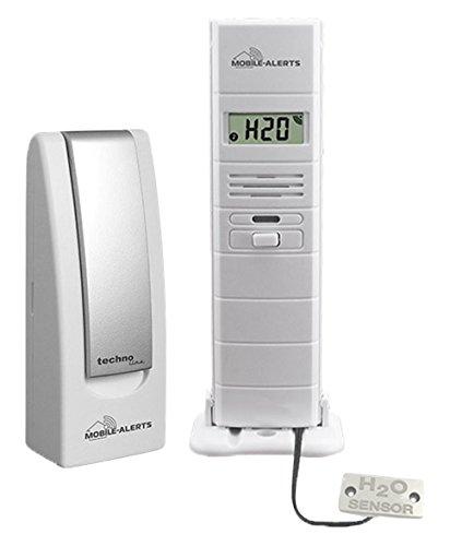 Technoline MA 10350 + Gateway 2 in 1: Wassermelder und Thermo-Hygro Sensor, Weiß, 3.8x2.1x12.8 cm