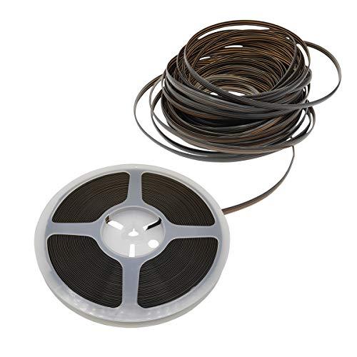RNY Polyethylen-Kunststoff-Rattan, synthetisches Korbgeflecht, Reparaturmaterial für Strick- und Reparatur, Rattan-Stuhl, Tischkorb (brauner Farbverlauf, 15,2 m)