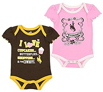 Outerstuff MLB Baby University of Wyoming Cowboys 2 Pack Onesie 6-9 Months