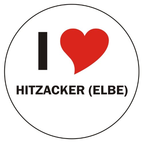 I Love HITZACKER (ELBE) Laptopaufkleber Laptopskin 210x210 mm rund