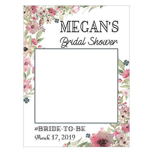 Flower Wedding Bridal Shower Photo Booth Prop, Personalized Bridal Shower Decorations, Wedding photobooth, Photo Prop, Bride To Be, Miss to Mrs. Handmade Party Supplies Sizes 36x24, 48x36
