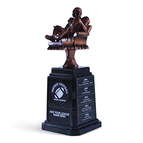 FANTASYJOCKS Fantasy Football Championship Perpetual Trophy with Custom Engraving