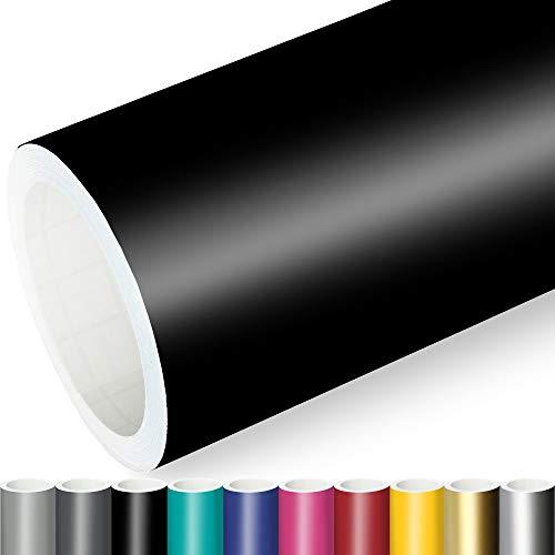 Actinium Klebefolie 10€/m² Schwarz Matt | 5m x 0,31m selbstklebende matte Folie | Möbelfolie selbstklebend Küchenfolie Plotterfolie