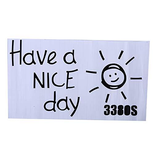 Generic Weiy Haben Sie einen schönen Tag Zitat Sonnenmuster Wandaufkleber TV Hintergrund Kleiderschrank Applique