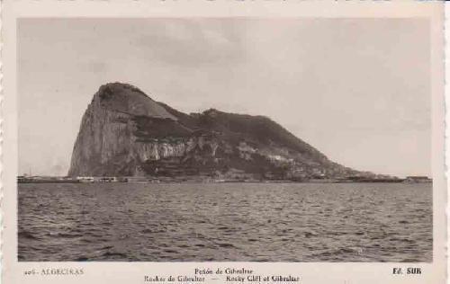 ANTIGUA POSTAL - OLD POST CARD : Algeciras - El Peñón de Gibraltar