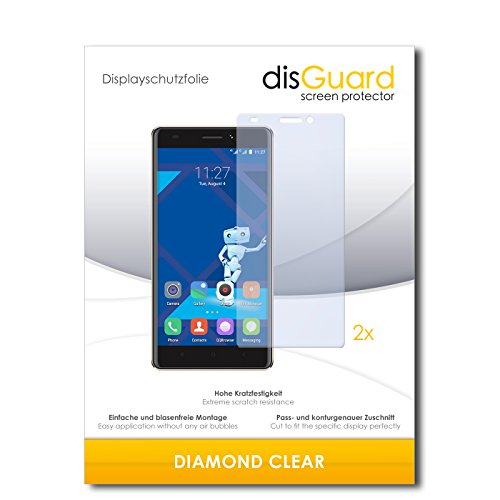 disGuard 2 x Bildschirmschutzfolie Haier Phone L53 Schutzfolie Folie DiamondClear unsichtbar
