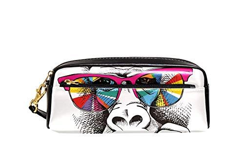 Bennigiry Sonnenbrille in Regenbogenfarben, Affenform, für große Kapazität, Borsa, per Penne, für Scuola Di Viaggio, Piccola Borsa Cosmetica
