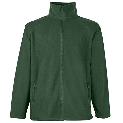 Fruit of the Loom Herren Outdoor-Fleecejacke Gr. XX-Large, flaschengrün
